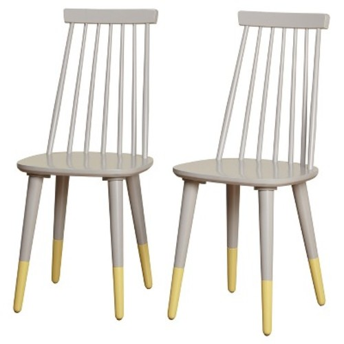 Hermosa Dining Chair (Set of 2) - Gray - Angelo:Home