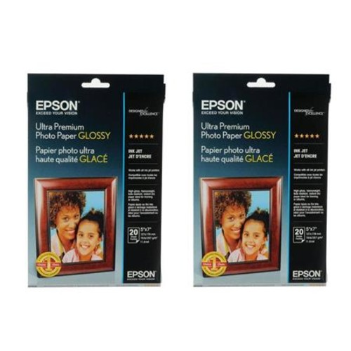 Epson 2x Ultra Premium Glossy Photo Paper (5x7