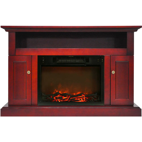 Cambridge Sorrento Fireplace Mantel with Electronic Fireplace Insert, Cherry