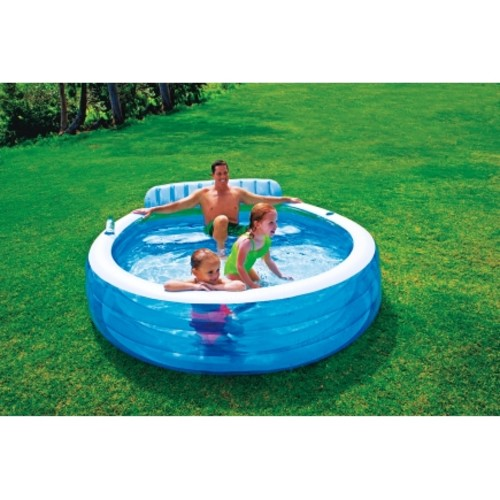 Intex Family Lounge Inflatable Pool 30 in. H x 88 L x 85 in. W(57190EP)