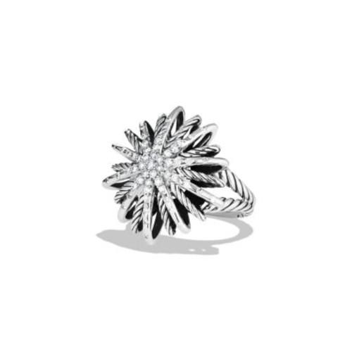 Starburst Medium Ring with Diamonds