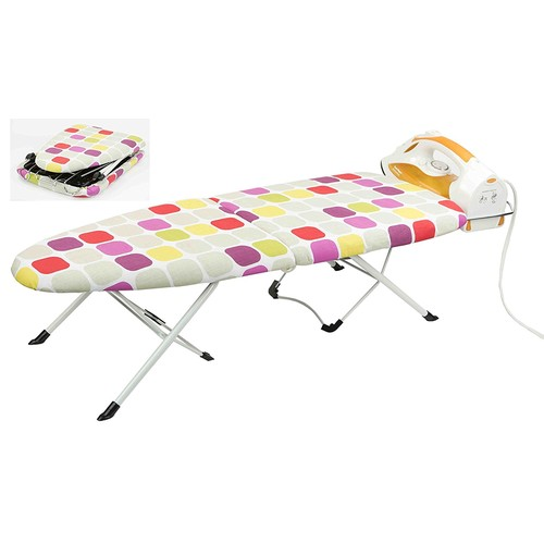 Home Basics Foldable Tabletop Ironing Board with Iron Rest