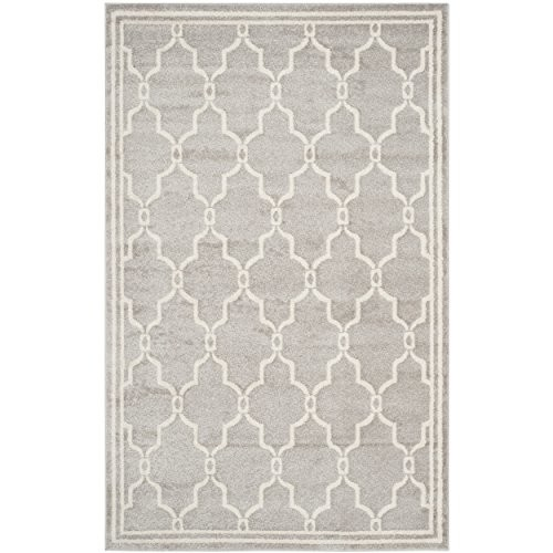 Safavieh Amherst Collection AMT414B Light Grey and Ivory Indoor/ Outdoor Area Rug