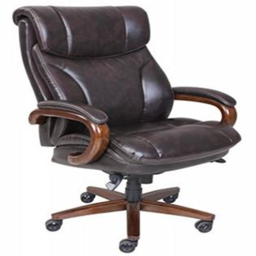 La-Z-Boy Trafford Big & Tall Executive Bonded Leather Office Chair - Vino (Brown)