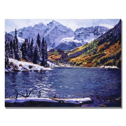 Trademark Global David Lloyd Glover 'Rocky Mountain Solitude' Canvas Art [Overall Dimensions : 18x24]
