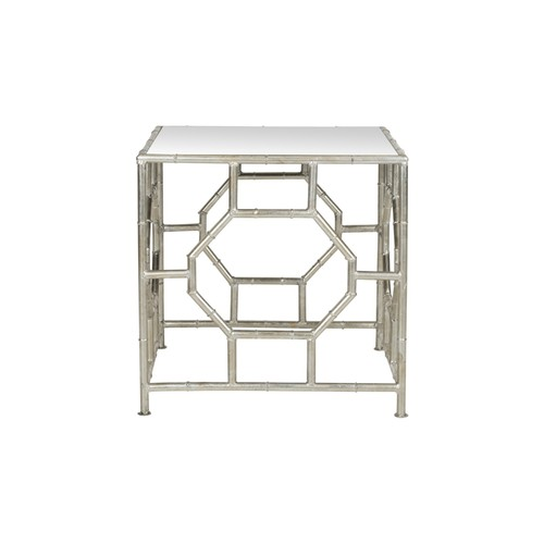 Safavieh Rory Silver Mirror Top Accent Table