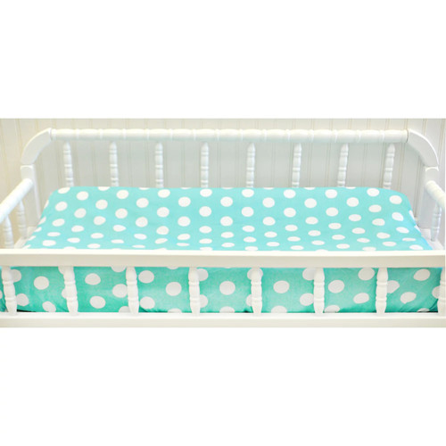 My Baby Sam Pixie Baby in Aqua Dot Changing Pad Cover