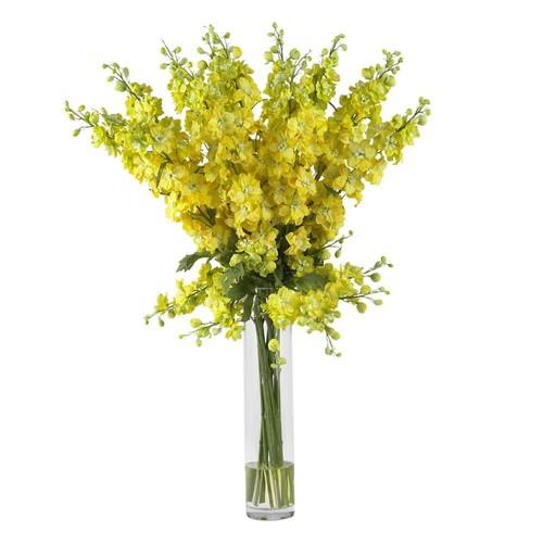 Nearly Natural Delphinium Silk Flower Arrangement