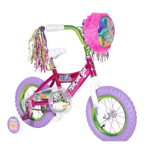 Dynacraft Bicycles, Ride-On Toys & Scooters Dynacraft Trolls Pink Steel 12-inch Bike