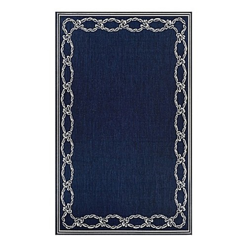 Couristan Rope Knot 2' x 3'7 Accent Rug in Indigo/Ivory