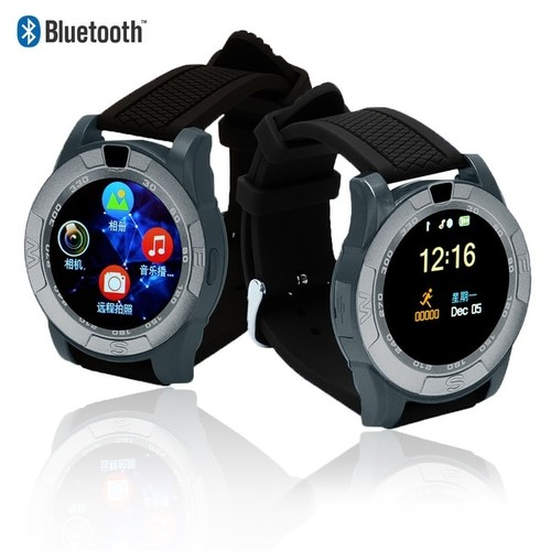 Indigi Bluetooth Sync SmartWatch & GSM Unlocked Phone [Text & Call Notification / Reminder + Alarm]