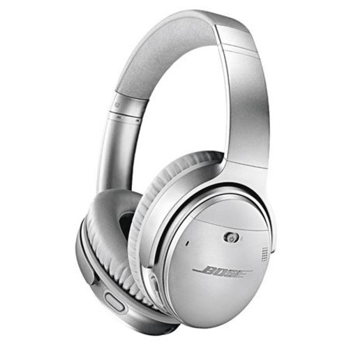 Bose QuietComfort 35 Wireless Headphones II Mic, Silver W/Bose SoundLink Speaker