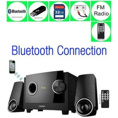 Boytone BT-3129F Limited Edition Multimedia with Bluetooth Audio Powerful Speakers System, Digital Display FM Radio + USB/SD/A