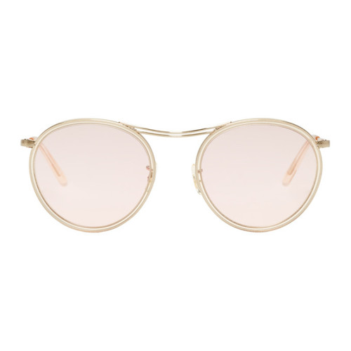 OLIVER PEOPLES Gold & Pink Mp-3 30Th Sunglasses