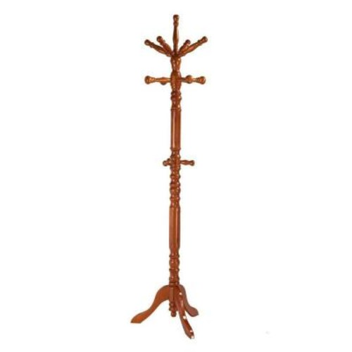 Frenchi Home Furnishing Oak 12-Hook Coat Rack