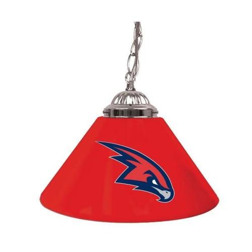 Trademark Atlanta Hawks NBA 14 in. Single Shade Stainless Steel Hanging Lamp