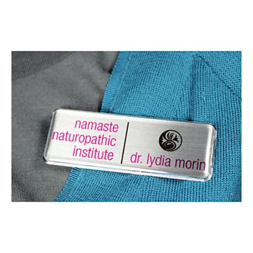 The Mighty Badge Name Badge Starter Kit, For Inkjet Printers, Silver