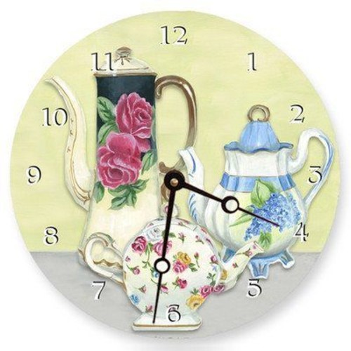 Lexington Studios China Teapots 18 in. Round Clock (LXNGS877)
