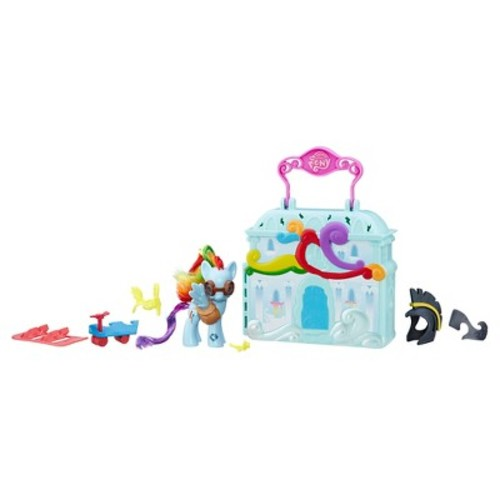 My Little Pony Friendship is Magic Explore Equestria 3 inch Doll with Cloudominium Playset - Rainbow Dash