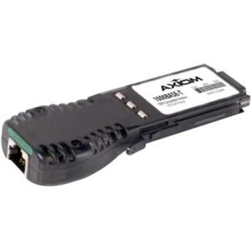 Axiom Memory GBIC Transceiver Module  Gigabit Ethernet 1000BASE-T, 1Gbps Data Transfer Rate, Up to 100m Distance Support, Plug-in module, Equivalent to Foundry Networks E1G-TX - E1G-TX-AX