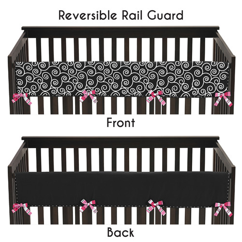 Sweet Jojo Designs Long Crib Rail Guard Cover for the Madison Collection by