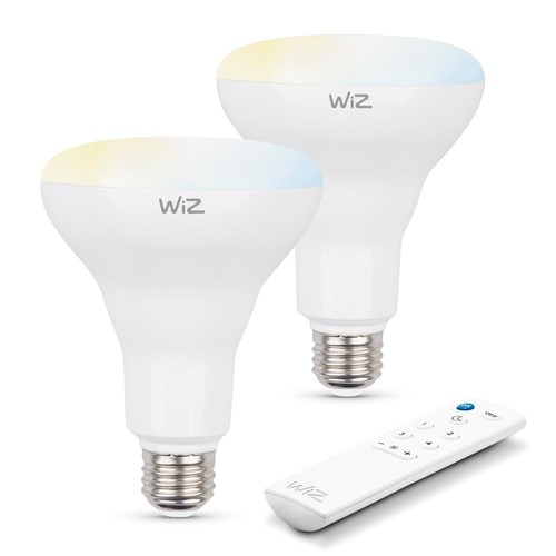 WiZ 72W Equivalent BR30 Tunable white Wi-Fi Connected Smart LED Light Bulbs (2-Pack)