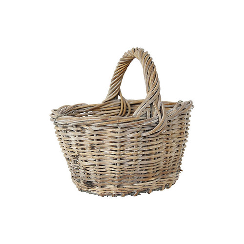 French Harvest Basket w/ Wire Base