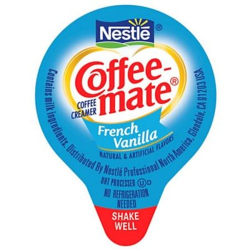Nestl Coffee-mate Coffee Creamer, French Vanilla, .375oz liquid creamer singles, 180 count