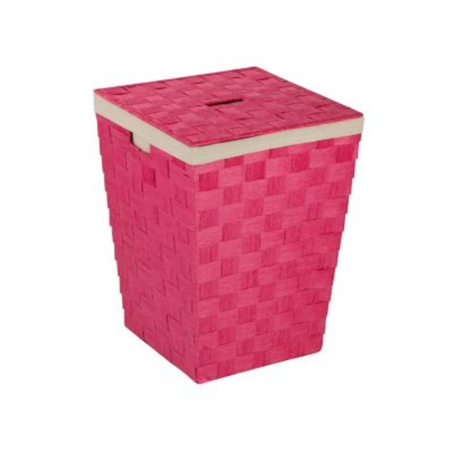 Honey Can Do Paper Rope Hamper, Pink (HMP-03731)