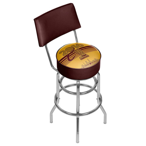 Cleveland Cavaliers 2016 NBA Champions Padded Swivel Bar Stool with Back