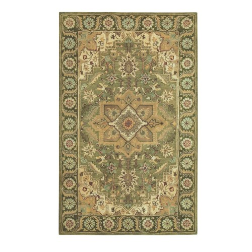 Home Decorators Collection Normandie Sage 3 ft. 6 in. x 5 ft. 6 in. Area Rug