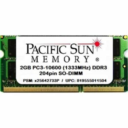 Pacific Sun Memory DDR3 2GB PC3-10600 1333MHz SO-DIMM Memory