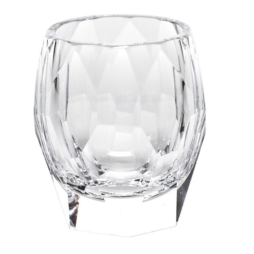 Cubism Double Old Fashioned Glass in Various Colors design by Moser - Clear