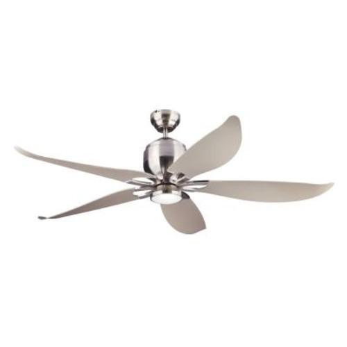 Monte Carlo Lily 56 in. Brushed Steel Ceiling Fan