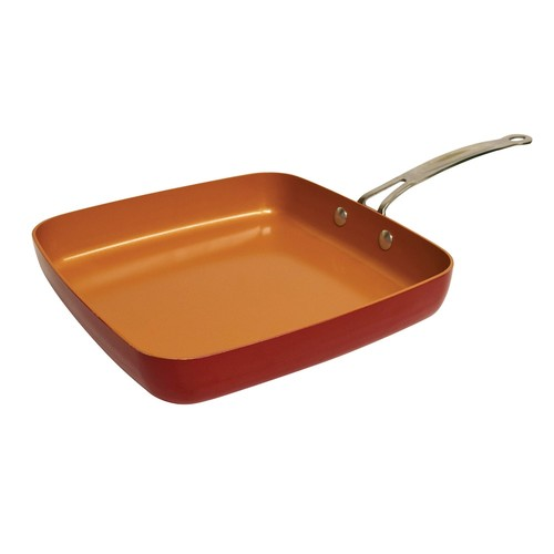 Red Copper 2-pc. Ceramic Square Pan Set As Seen on TV