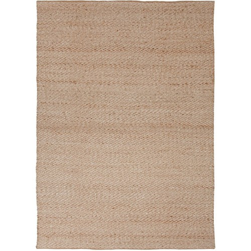Himalaya Collection Jute and Cotton Area Rug in Cream by Jaipur - 2' 6\
