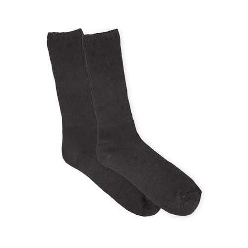 Basic Editions Men's 2-Pairs Ribbed Dress Socks [Fit : Men's]