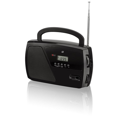 GPX, Inc. R633B Portable Shortwave AM/FM Clock Radio