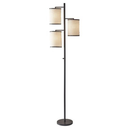 Adesso Bellows Tree Lamp - Brown