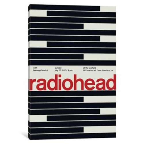 East Urban Home 'Radiohead at The Warfield July 27th, 1997' Textual Art on Wrapped Canvas