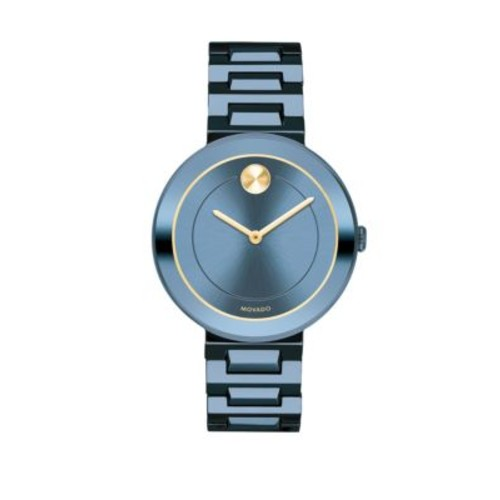 Mid-Size Bold Blue Stainless Steel Watch