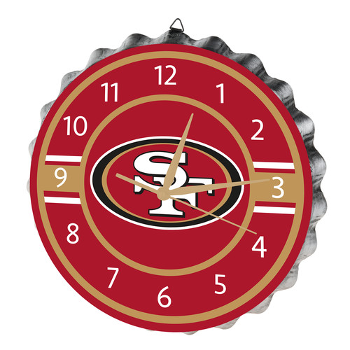 NFL San Francisco 49ers Bottle Cap Wall Clock