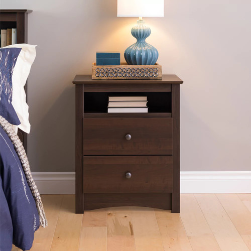 Prepac Tall 2-Drawer Nightstand