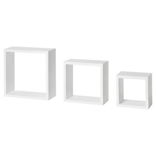 Dolle Floating Shelf Set of Box Frames - White