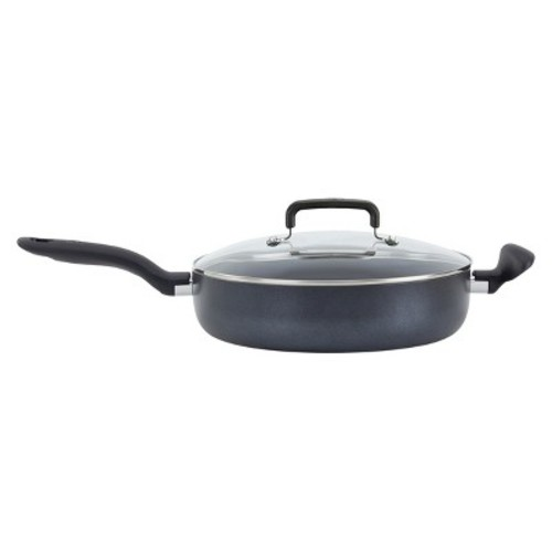 T-fal Simply Cook Nonstick C51882 Dishwasher Safe Cookware 5 Qt Jumbo Cooker with Lid Black