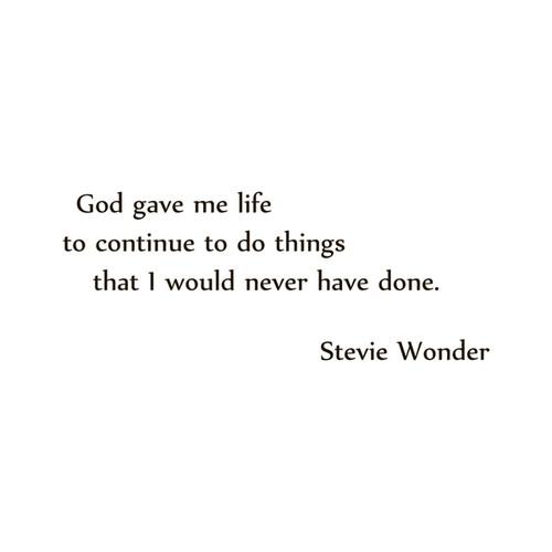 Stevie Wonder Quote Vinyl Wall Art