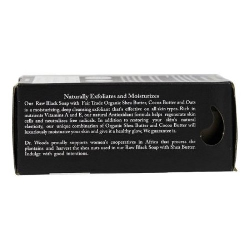 Dr. Woods Raw Black Rejuvenating Exfoliating Body Bar with Organic Shea Butter 5.25 Ounce [Pack of 1]