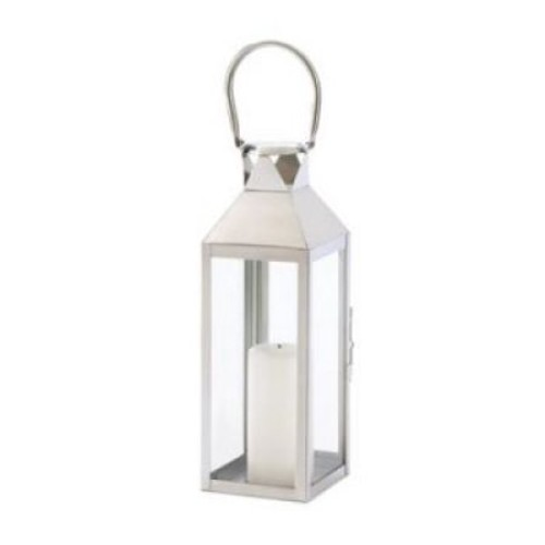Zingz & Thingz Stainless Steel and Glass Lantern