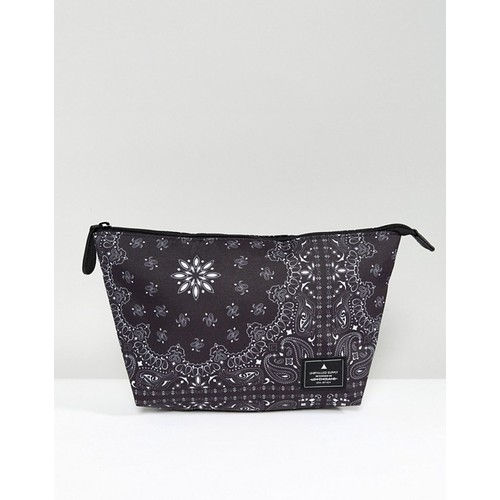 ASOS Toiletry Bag In Black Bandana Print