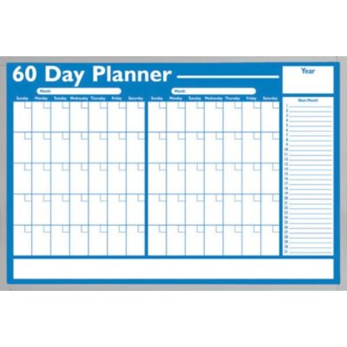 Magna Visual Economical 60 Day Non-Magnetic Planning Board, Aluminum Frame, 36